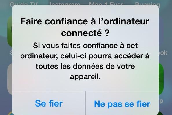 """omment annuler un """"Ne pas se fier"""" un peu trop rapide sur iOS"""