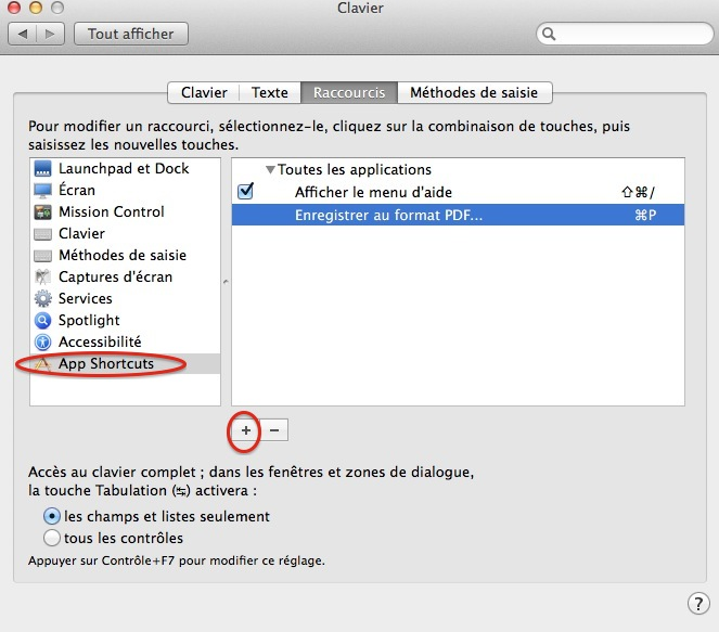 enregistrer en format pdf sur mac