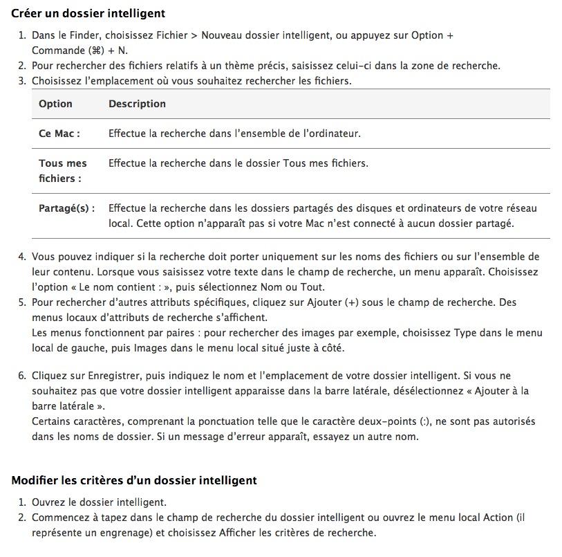 Créer un dossier intelligent sur Mac
