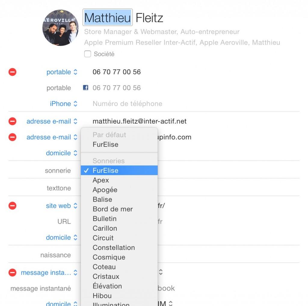 Sonneries personnalisées pour les appels reçus sur Mac