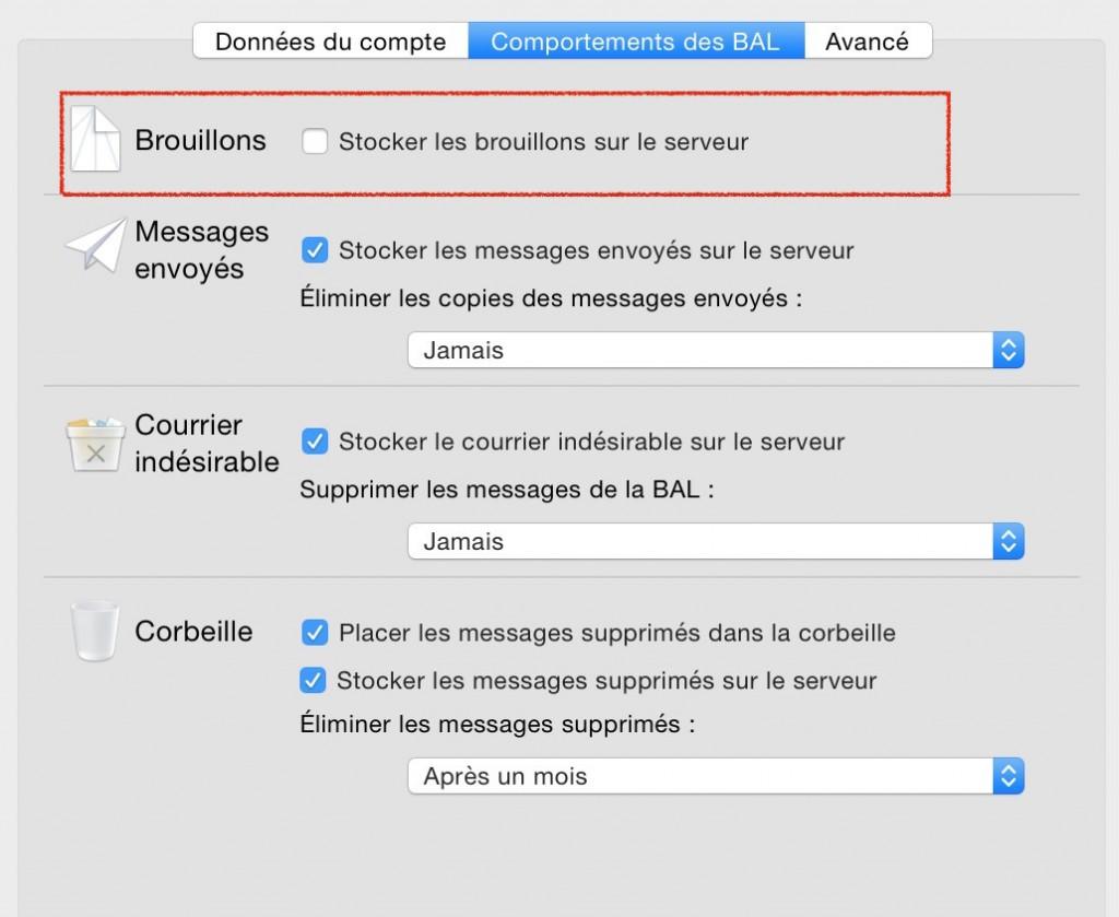 Eviter la multiplication des brouillons sur mail
