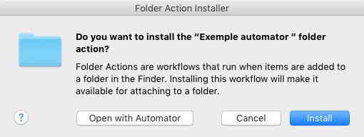 Install Action to Folder Mac