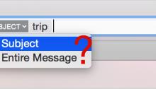 Recherche Apple Mail