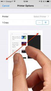imprimer en pdf depuis un iPhone
