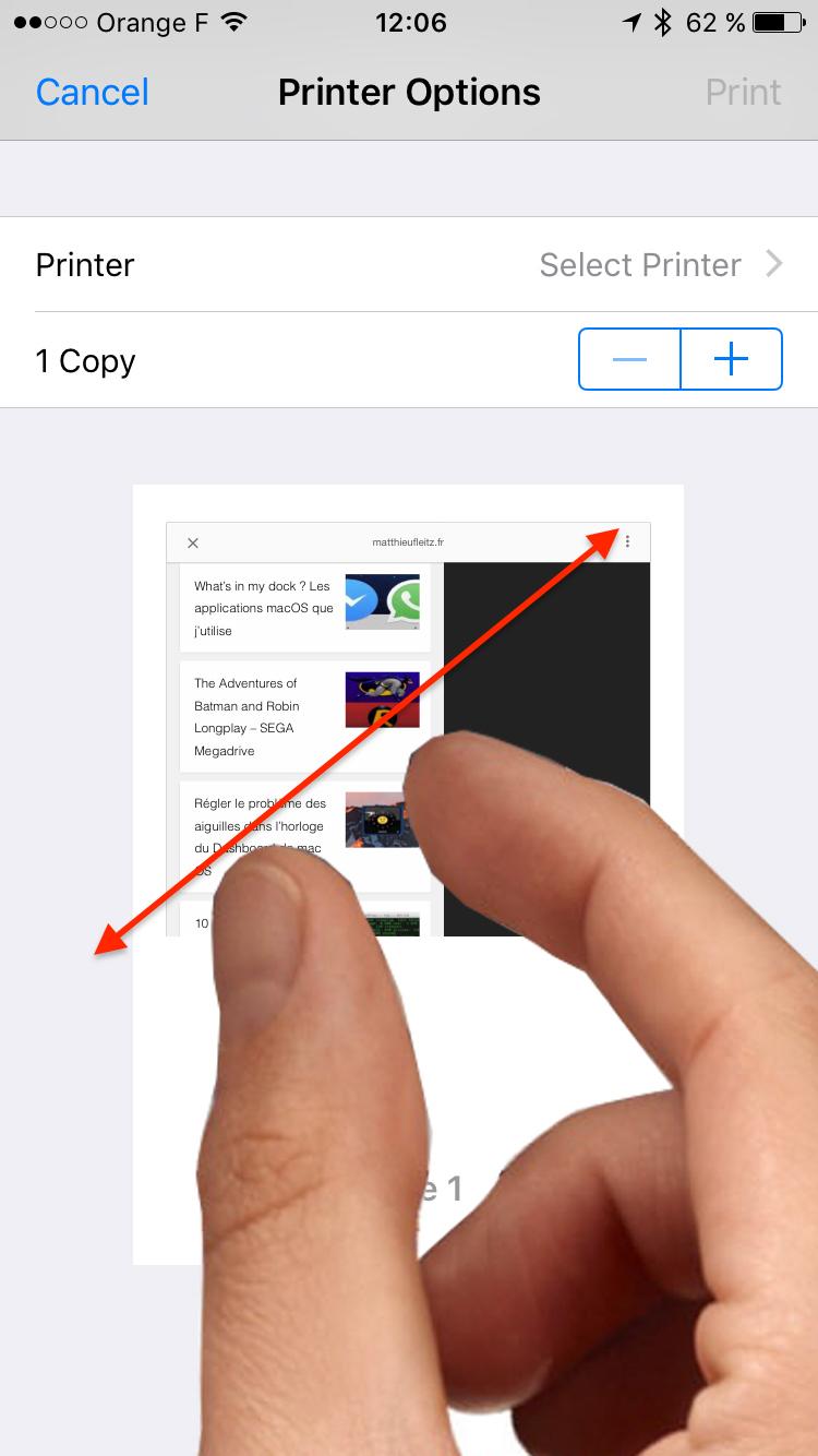 enregistrer en pdf sur iphone et ios 10