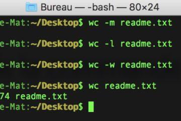 Compter le nombre de mots dans un fichier texte sur Mac