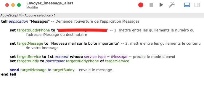 Envoyer un iMessage avec AppleScript sur Mac